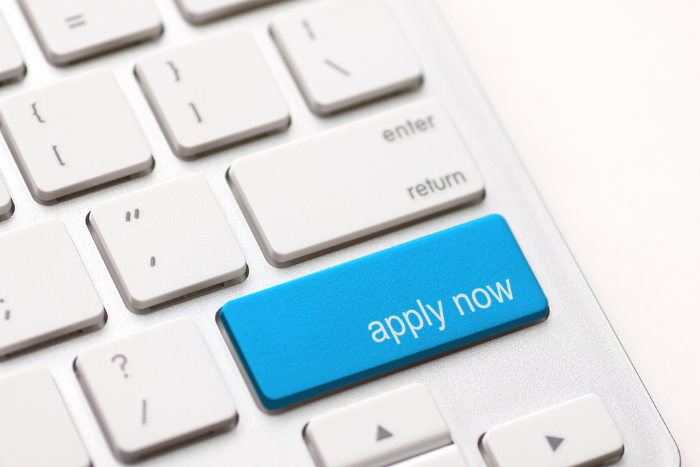 apply now button on computer keyboard