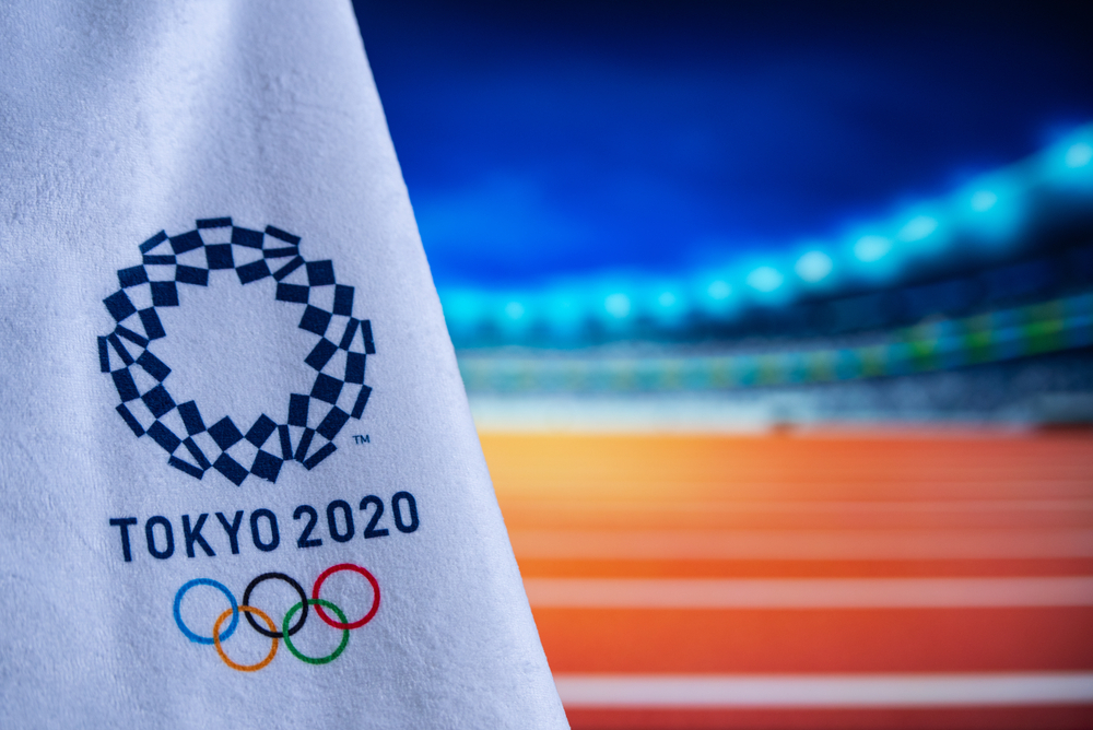 Tokyo Olympic Games 2020 flag with running track