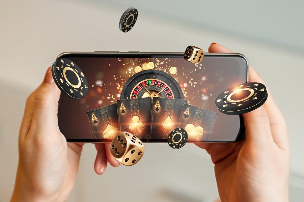 mobile casino games concept