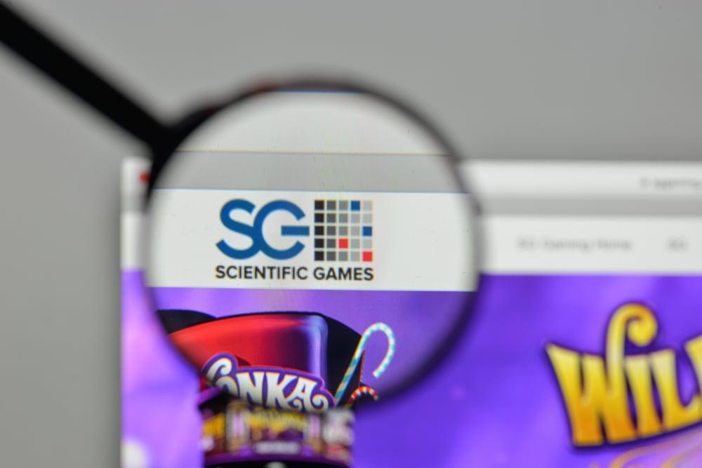 Scientific Games logo on proprietary website
