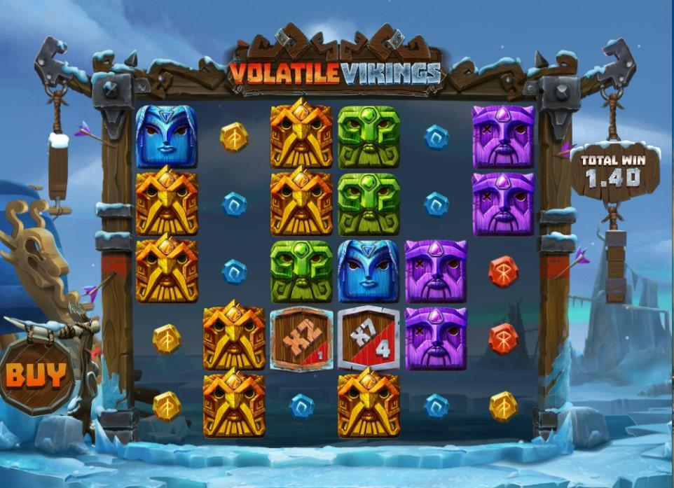 Volatile Vikings slot reels by Relax Gaming
