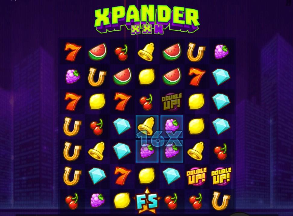Xpander slot reels by Hacksaw Gaming