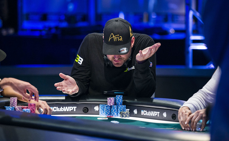 poker pro Phil Hellmuth during a poker game