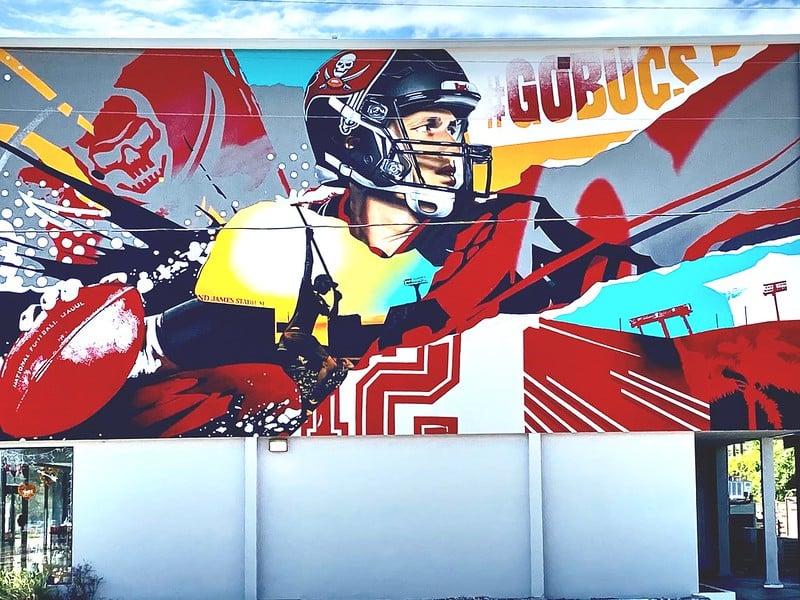 Tom Brady mural