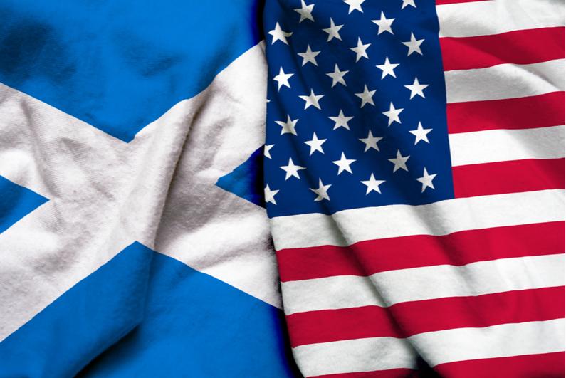 Scotland and USA flags