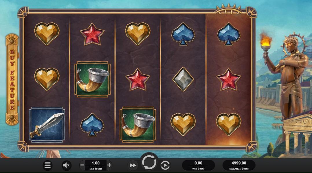 Helios Fury slot reels by Relax Gaming