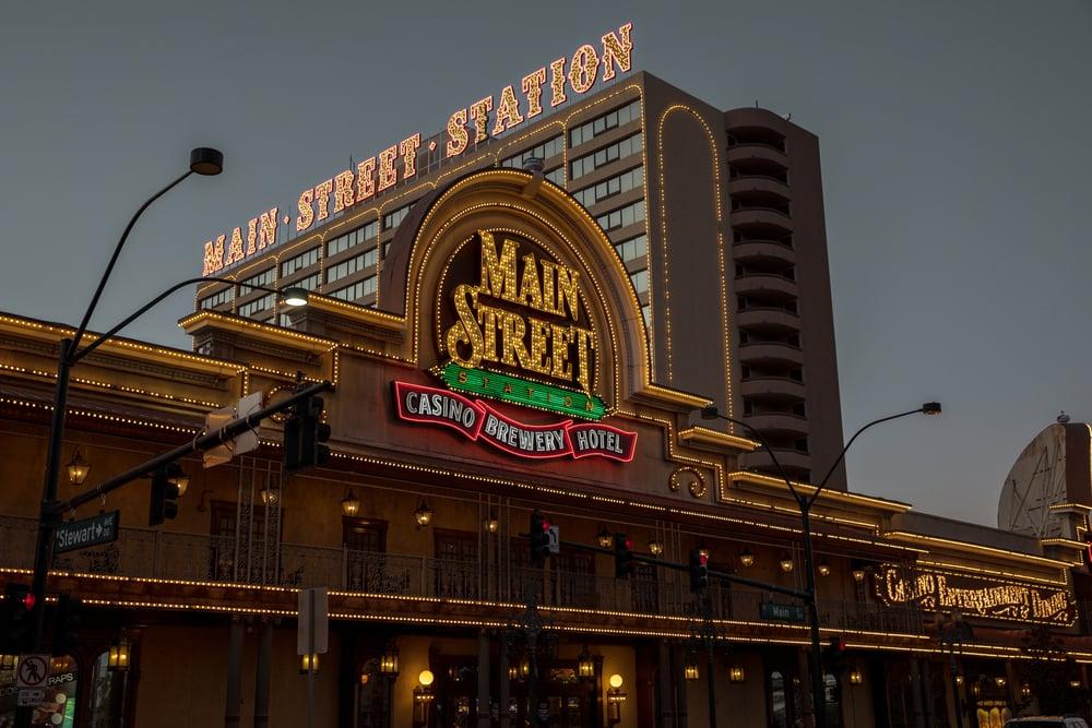 Main Street Station casino facade in downtown Las Vegas