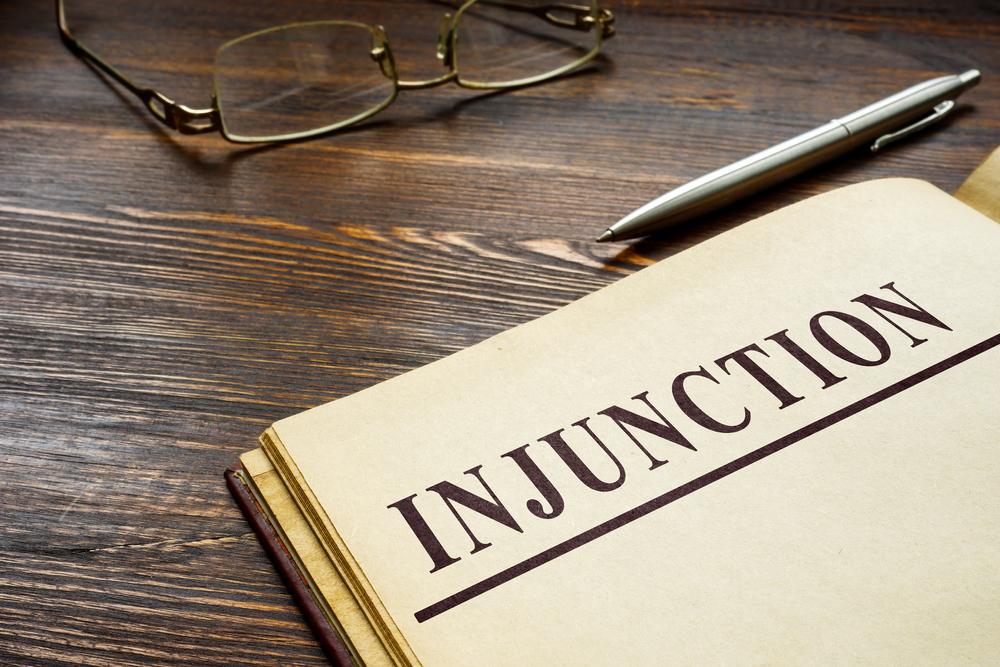 Injunction on document