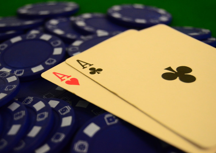 Aces on blue chips