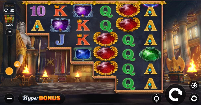 Jewels of Jupiter slot reels by Kalamba Games