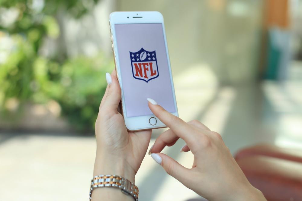 NFL logo on phone screen