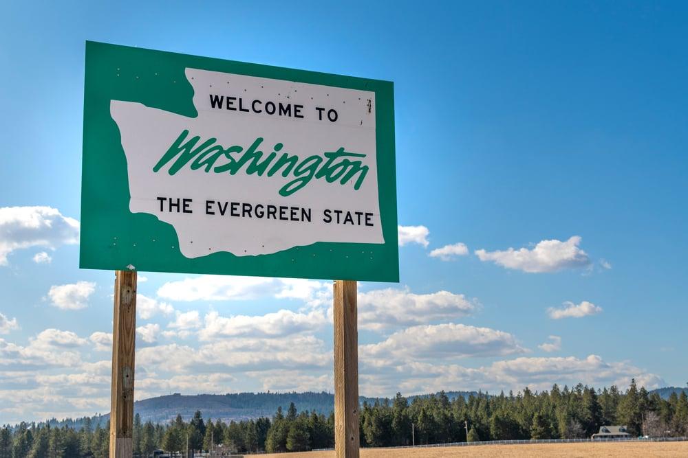 Washington road sign