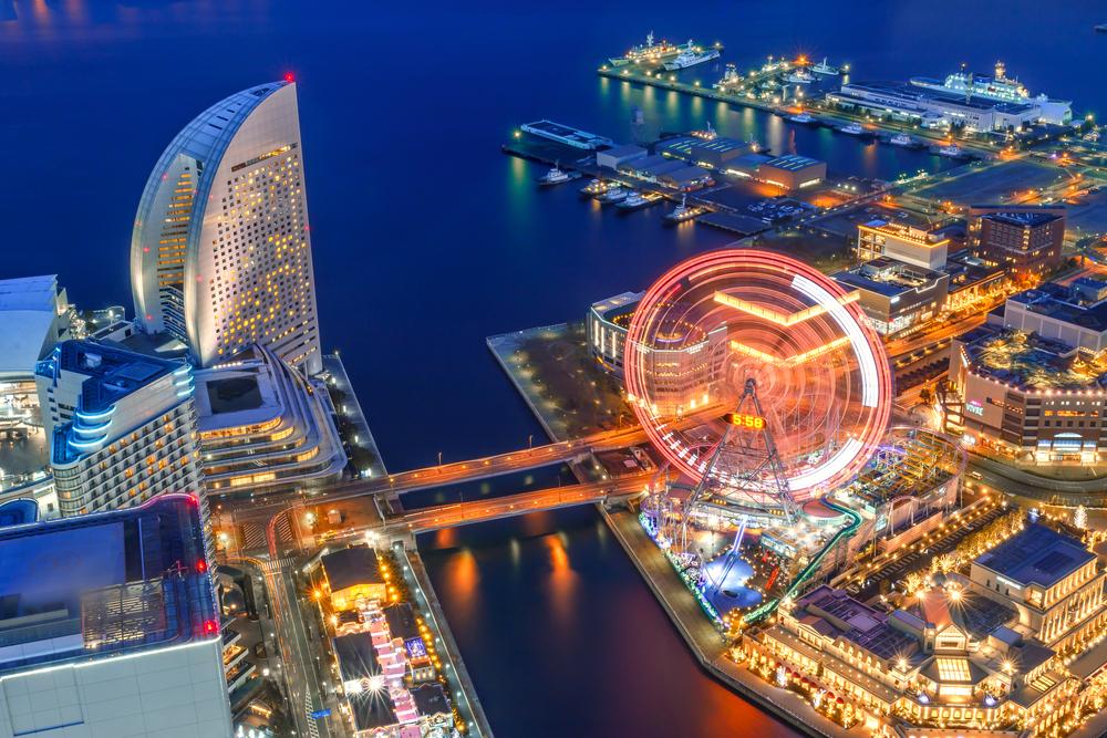 bird's eye view of Yokohama Japan