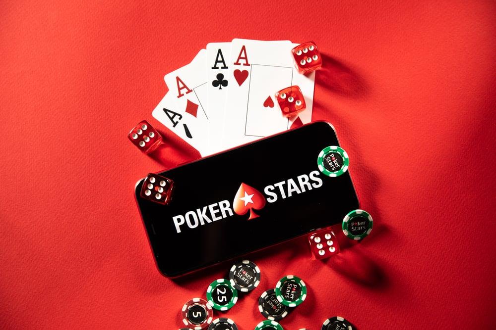 PokerStars logo on phone