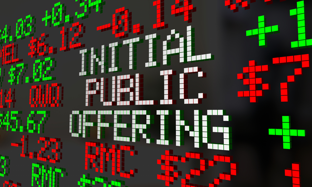 Initial public offering sign