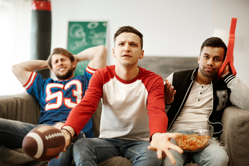 Disappointed American football fans