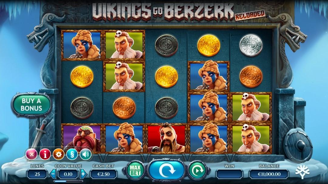 Viking Go Berserk Reloaded slot reels oleh Yggdrasil Gaming