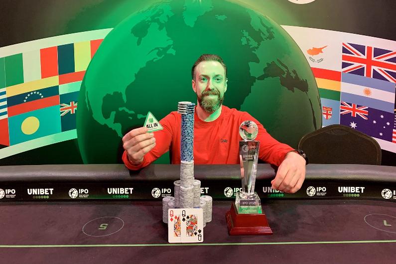 Unibet International Poker Open Main Event winner Jamie Cusack