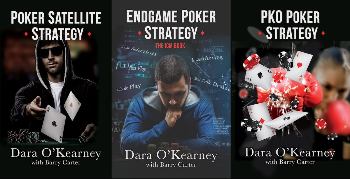 three poker publications side by side