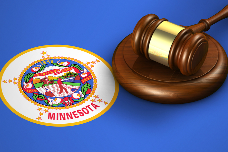 Judge's gave next to the Minnesota state seal