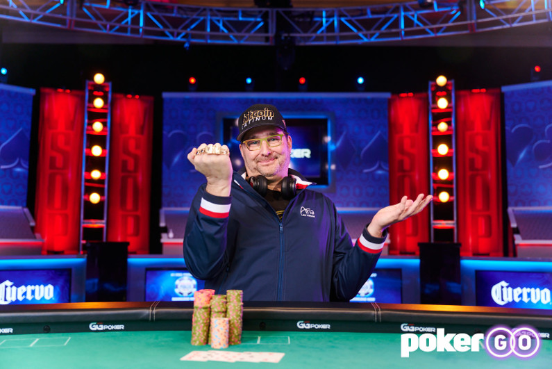 Phil Hellmuth at the 2021 WSOP