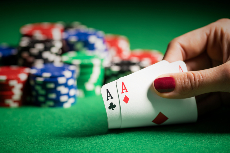 Poker pocket Aces