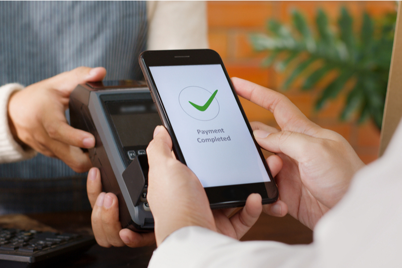 Smartphone cashless payment