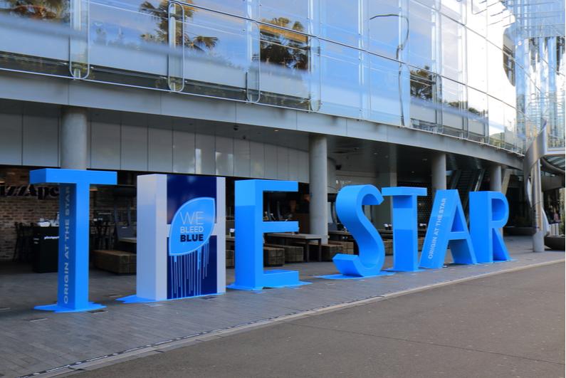The Star Sydney sign