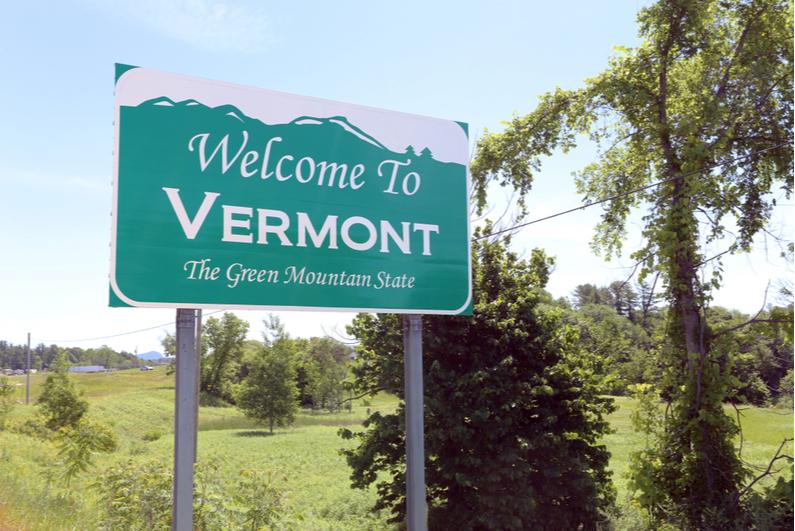 Maligayang pagdating sa Vermont road sign