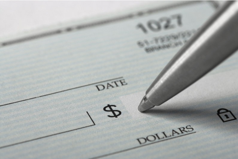Signing a blank check