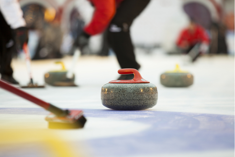 Players curling