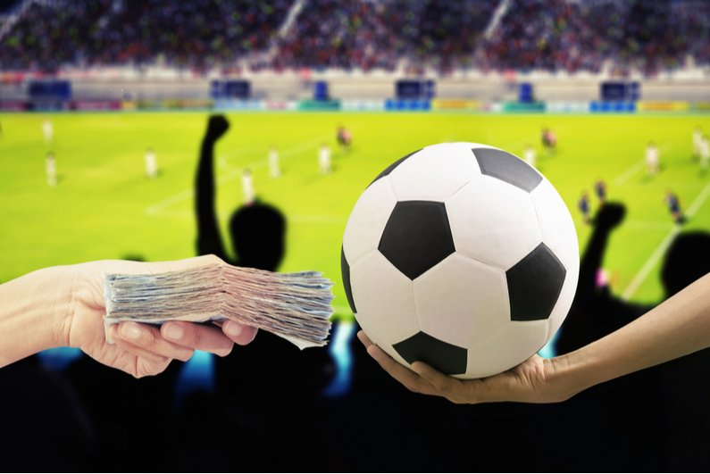 Person offers cash for soccer ball
