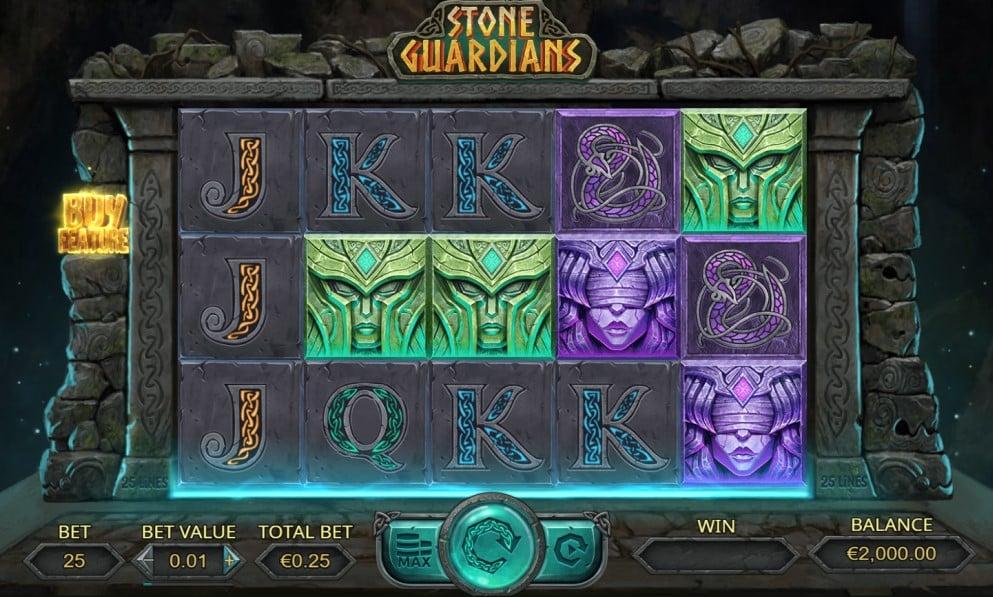 Stone Guardians slot reels by Dream Tech